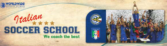 Italian soccer school become a Champion with our Coaches, let us manage your soccer team form beginners, young, girs and professional players, the Italian football soccer school to the world thanks to WBN and AIAC - the Italian football soccer association of coaches - the Italian football soccer school offers to the international players and teams the World Champions technical and tactical training to the USA soccer teams, Canada soccer players, UAE soccer league, Saudi Arabia teams, Australia teams and soccer players. We offer also customized training for soccer lovers as begineers camps, young soccer camps, girls football soccer training and professional Italian soccer Coaches for your team, our Italian soccer school offers the most prestige and winner Football Soccer coach camps and training in the world ready to coach in your country and become a Champion in your league