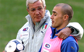 Marcello Lippi (and Fabio Cannavaro) an AIAC member of the Italian soccer school become a Champion with our Coaches, let us manage your soccer team form beginners, young, girs and professional players, the Italian football soccer school to the world thanks to WBN and AIAC - the Italian football soccer association of coaches - the Italian football soccer school offers to the international players and teams the World Champions technical and tactical training to the USA soccer teams, Canada soccer players, UAE soccer league, Saudi Arabia teams, Australia teams and soccer players. We offer also customized training for soccer lovers as begineers camps, young soccer camps, girls football soccer training and professional Italian soccer Coaches for your team, our Italian soccer school offers the most prestige and winner Football Soccer coach camps and training in the world ready to coach in your country and become a Champion in your league