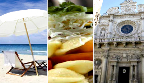 Tours packages in Gallipoli, Lecce, Salento and Puglia (Apulia) in the very Vacations Heart of italy summer beach tours, full gastronomy packages and Italian culture tourism services including our own apartments, flats and villas plus an international VIP customer services for each tour packages